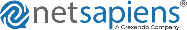 NetSapiens A Crexendo Company Horizontal Logo
